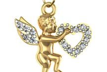 Diamond Charms / Diamond Charms for bracelets in gold & silver