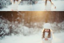 Winter outdoor family photos