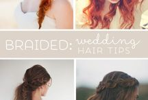 Boho vintage wedding hair