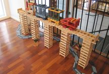 KAPLA Trains and Bridges / Children of all ages can build with KAPLA.