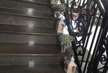 Stair way decor