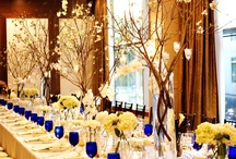 Yellow and royal blue wedding theme
