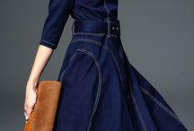 jeansowe sukienki i spódnice