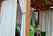 Curtains outdoor
