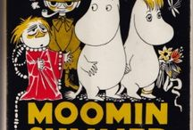 Tove Jansson / English edition book covers Moomintroll series
