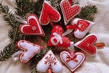 vianočné ozdoby z filcu