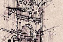 ink sketching