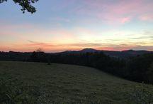 Vues et coucher de soleil au Domaine de Marthe