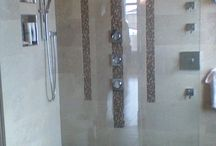 cultured granite / One piece shower base out of cultured granite