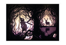 The Wind in the Willows Light boxes / My paper cut light boxes for my narrative project at university based on the chapter The Wild Wood from the wind in the willows.