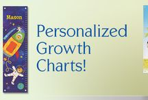 "PERSONALIZED GROWTH CHARTS / What a wonderful way to watch your child grow! Each 12"" x 42"" growth chart comes personalized with your child's first name. These beautifully illustrated, high quality growth charts are produced with artist grade canvas and have 4 grommets for easy hanging. When the parent has finished using the growth chart, it can be rolled up and kept forever! Each growth chart comes packaged in a special I See Me! gift box for the perfect added touch! Made in the USA. / by I See Me! Personalized Children's Books"
