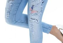 Parches, Jeans, Flores