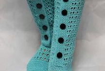 Crochet boots and shoes
