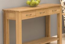 Console Tables / Provide a seamless stylish accent to your living room or entry way with one of our magnificent console tables. In a range of woods from solid oak and walnut to white and cream painted mahogany and ash, add a complementary touch to your existing furniture with these stunning tables. http://www.hampshirefurniture.co.uk/furniture-type/console-tables