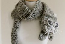 Crochet hats, shawls, mittens, leg warmers