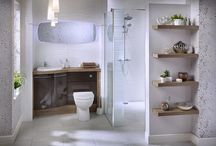 Fitted Bathroom Furniture / Choice and flexibility are key to Fitted bathroom furniture ranges. Use of floor-standing cabinets, plinths and filler panels create a continuous run of furniture with an emphasis on maximum storage space and minimum clutter, perfect for smaller bathrooms.