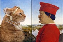~Svetlana Petrova - FatCat Art / Russian artist Svetlana Petrova inserts her ginger cat Zarathustra into famous paintings.