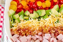 Recipes: Salads / A variety of salad recipes for every palate.  Whether you need a side dish or a no-cook entree, this is the board you want to check out!