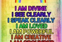 The 7 Chakras {Affirmations}