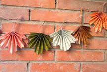 Guirnalda hojas otoño / Guirnalda de hojas de otoño
