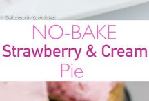 Strawberry cream pies