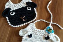 Baberos a crochet