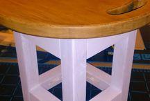 Табуретка... из разделочной доски / Да это не шутка. Сидение табуретки сделано из расколотой разделочной доски из бамбука.  Табуретка сделана для самых главных наших заказчиков - для детей.