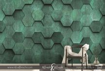 3D mural / Wallcovering made with real stucco material  https://goo.gl/FpVWaz