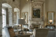 Creamy contemporary rustic interiors / A blend of traditional and contemporary styles in a textured setting