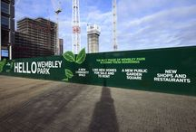 Advertising Hoarding | Wembley Park / Like what you see? Talk to us about your next brand activation project today. www.octink.com