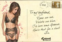 Gossard's Valentine's Day / Simply pick the Gossard post card you'd like to send your love one and repin it on your wall or to them!
