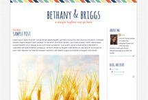 Blog layouts I like