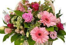 Virágkosár és doboz