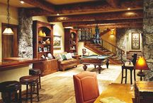 Man Caves / #mancaves and beautiful finished #basements and home decor.