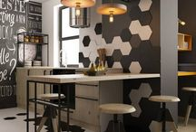 Tiles, walls, cabinets