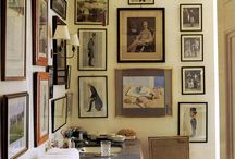 Montage / Groupings of art on walls / by Leslie Banker