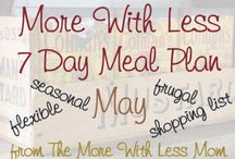 Meal Plan Spring / Budget meal plans using real food for spring