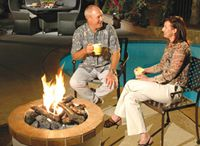 Gas Outdoor Fireplaces / Gas fireplaces for outdoor use