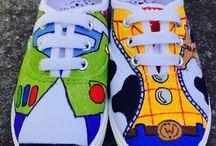 Vászon cipő festés