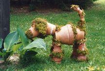 Kvetinacove figurky na zahradu