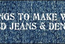 jeans / things to make with old jeans