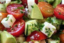 Salate und Salatsauce