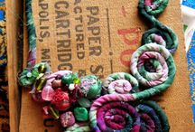 Textile Jewellery / inspiration for jewellery made from textiles