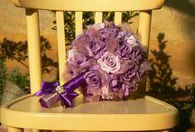 Alkotásaim - Lila esküvői szett - My Handmade flower -  Purple wedding set
