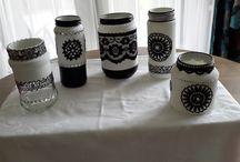 flessen/potten versieren
