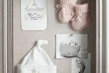schilderij/fotolijst baby