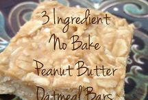 3 Ingredients Oatmeal Bars