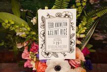 A Wedding with Geometric Details and Colourful Florals