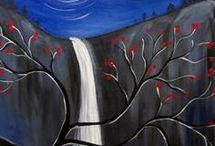Waterfall / Waterfall at night