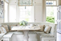 BREAKFAST NOOKS / Breakfast, work, and study; great nooks are for everything! I would want to stay in these perfect petite spaces all day!